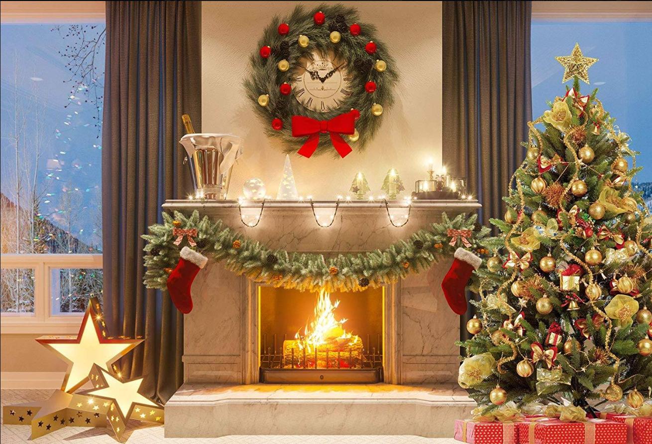 Pin Van Jen Hartnett Op Christmas Fireplaces