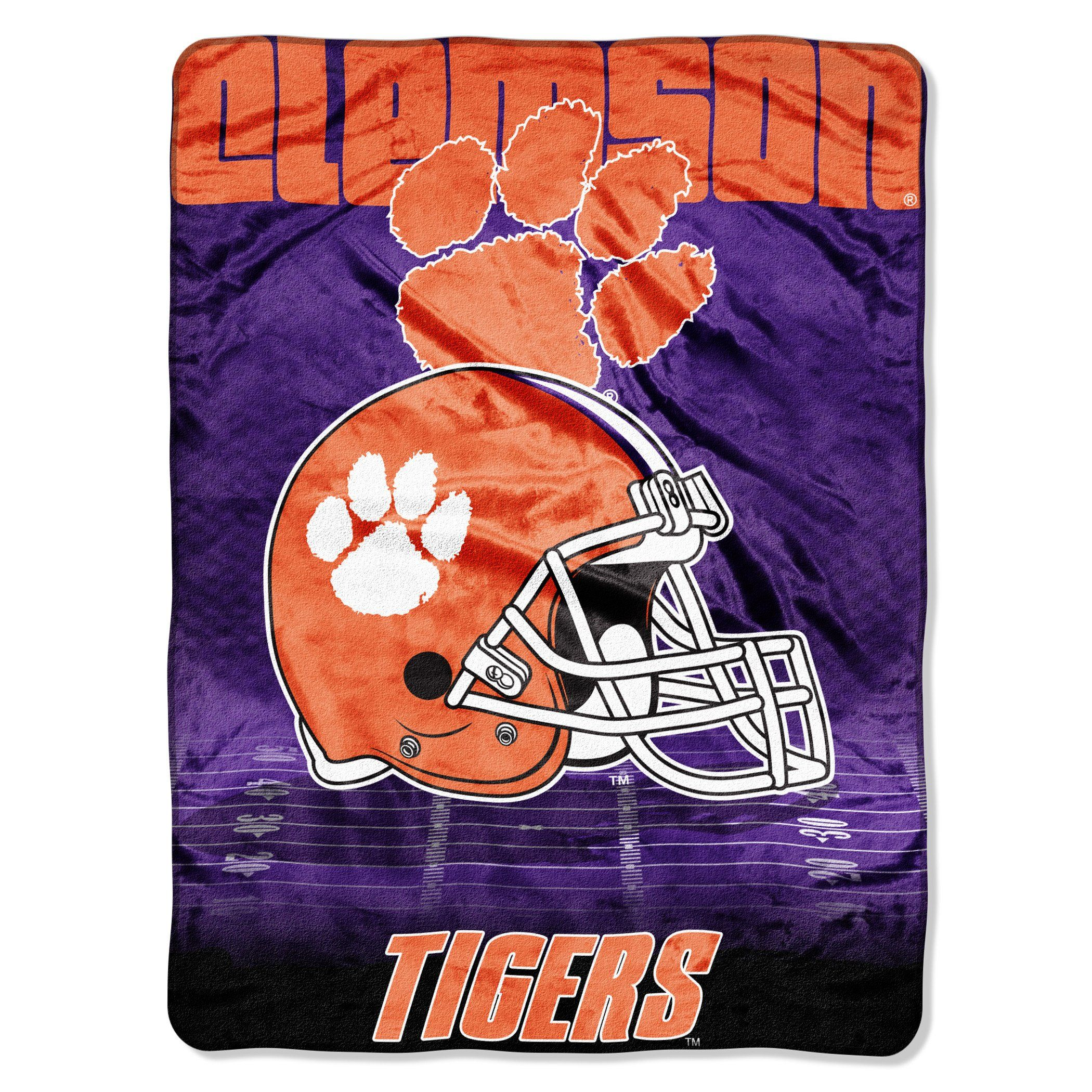 Multi Color Officially Licensed NCAA Overtime Micro Raschel Throw Blanket 60 x 80