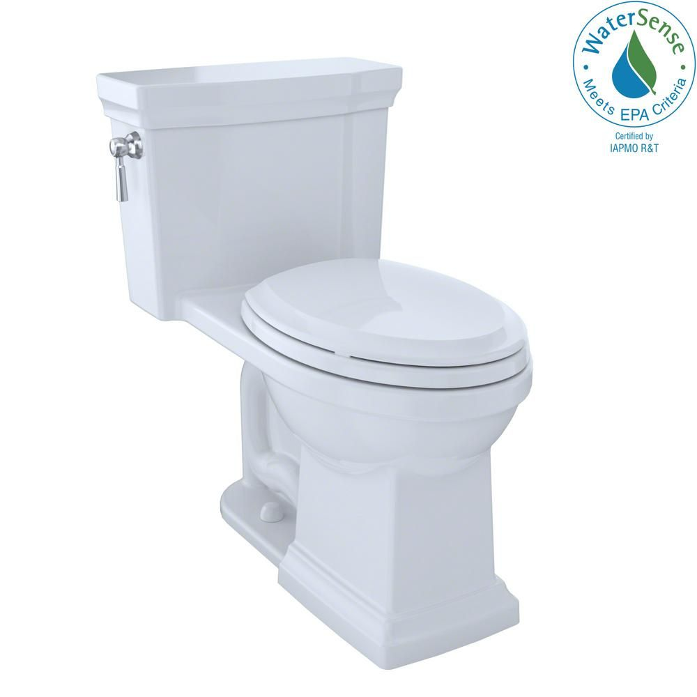 Toto Promenade Ii 1 Piece 1 0 Gpf Single Flush Elongated Toilet With Cefiontect In Cotton White