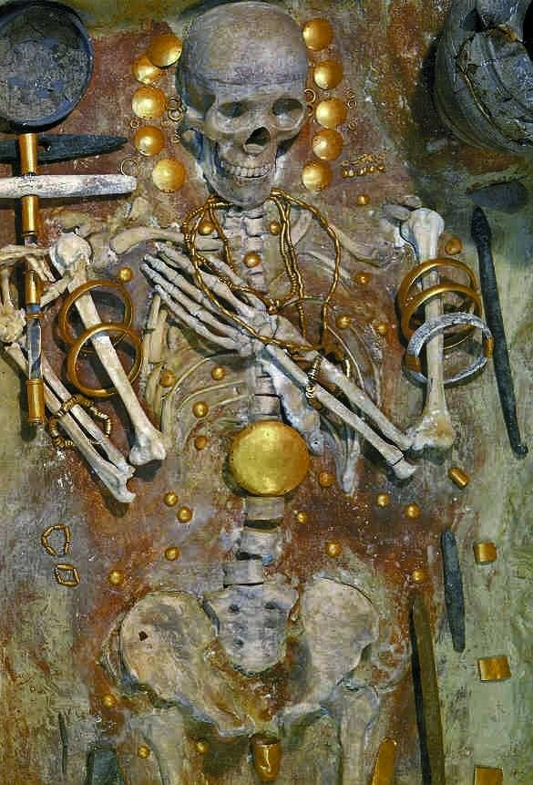 I think that the Varna Necropolis with the dude with the golden penis from the 5th milenium BC is more intriguing.  Image