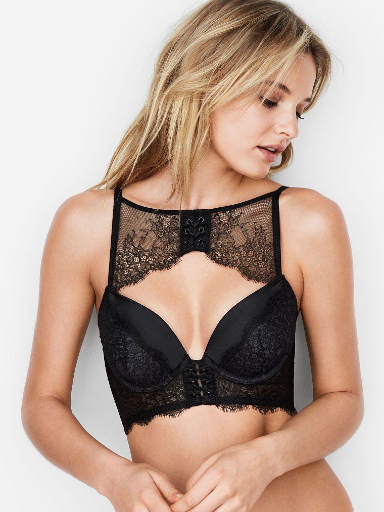 f55f07952bc High-neck Lace-up Push-Up Bra - Very Sexy - Victoria s Secret ...