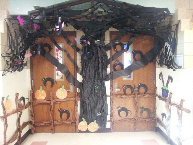 Halloween decor classroom Pinterest Halloween ideas - office halloween decorating ideas