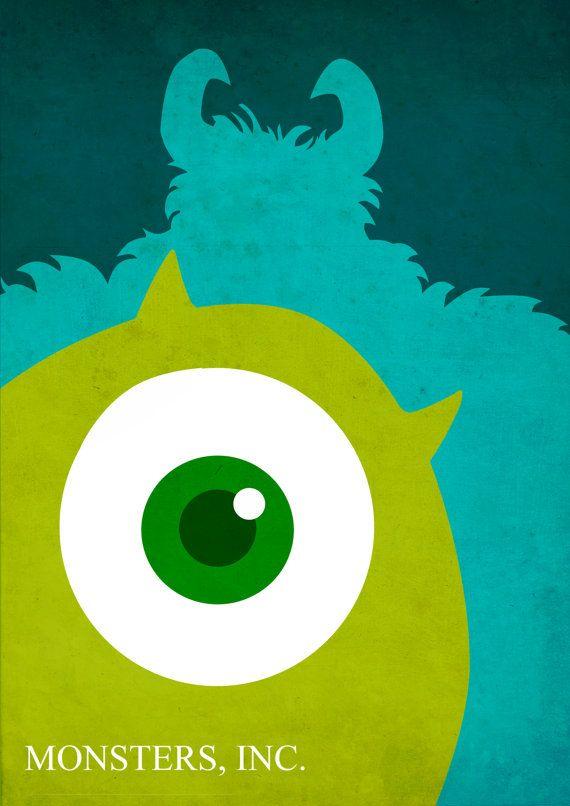Disney Pixar Monsters Inc Poster