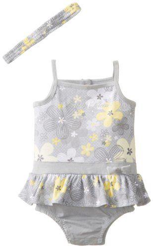 Calvin Klein Baby Girls Newborn Flower Print Sunsuit And