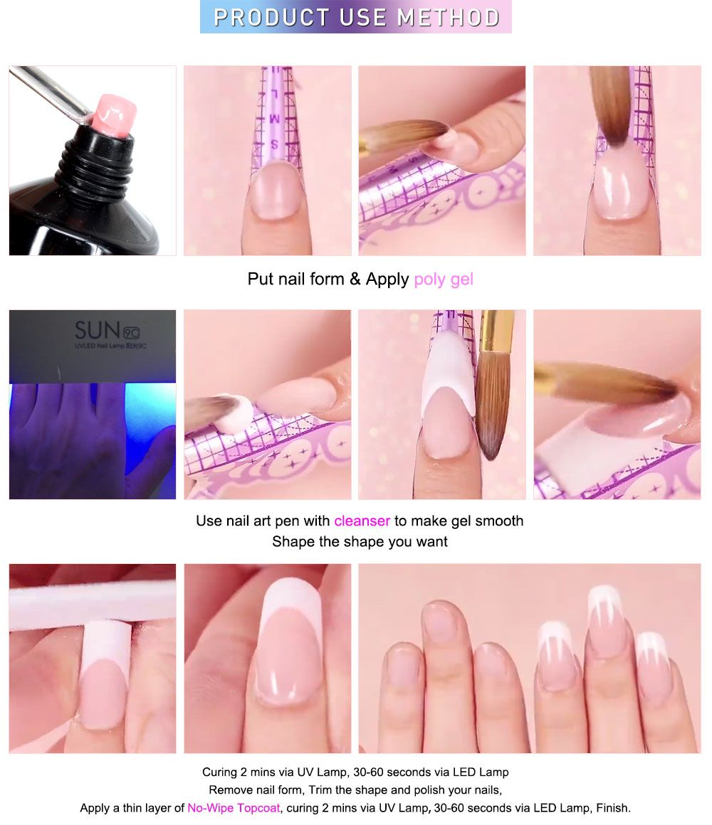Poly Nail Extension Gel Kit Xnyuqn In 2020 Diy Acrylic Nails Gel Nail Designs Gel Nails