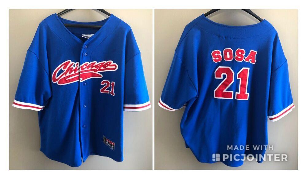3b7c993c3 Vintage Chicago Cubs Sammy Sosa  21 MLB Players Choice Sewn Jersey Sz. XL   SportAttack  ChicagoCubs