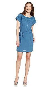 Yessica Jurk blauw 95% Viscose- 5% Elasthan #zomercollectie #zomerkledingdames #zomerkleding