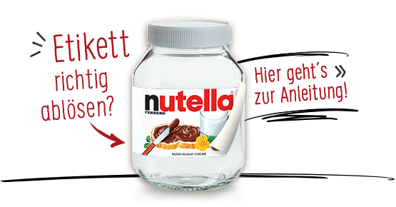 sieh dir an was man aus leeren nutella gl sern machen kann basteln pinterest nutella. Black Bedroom Furniture Sets. Home Design Ideas