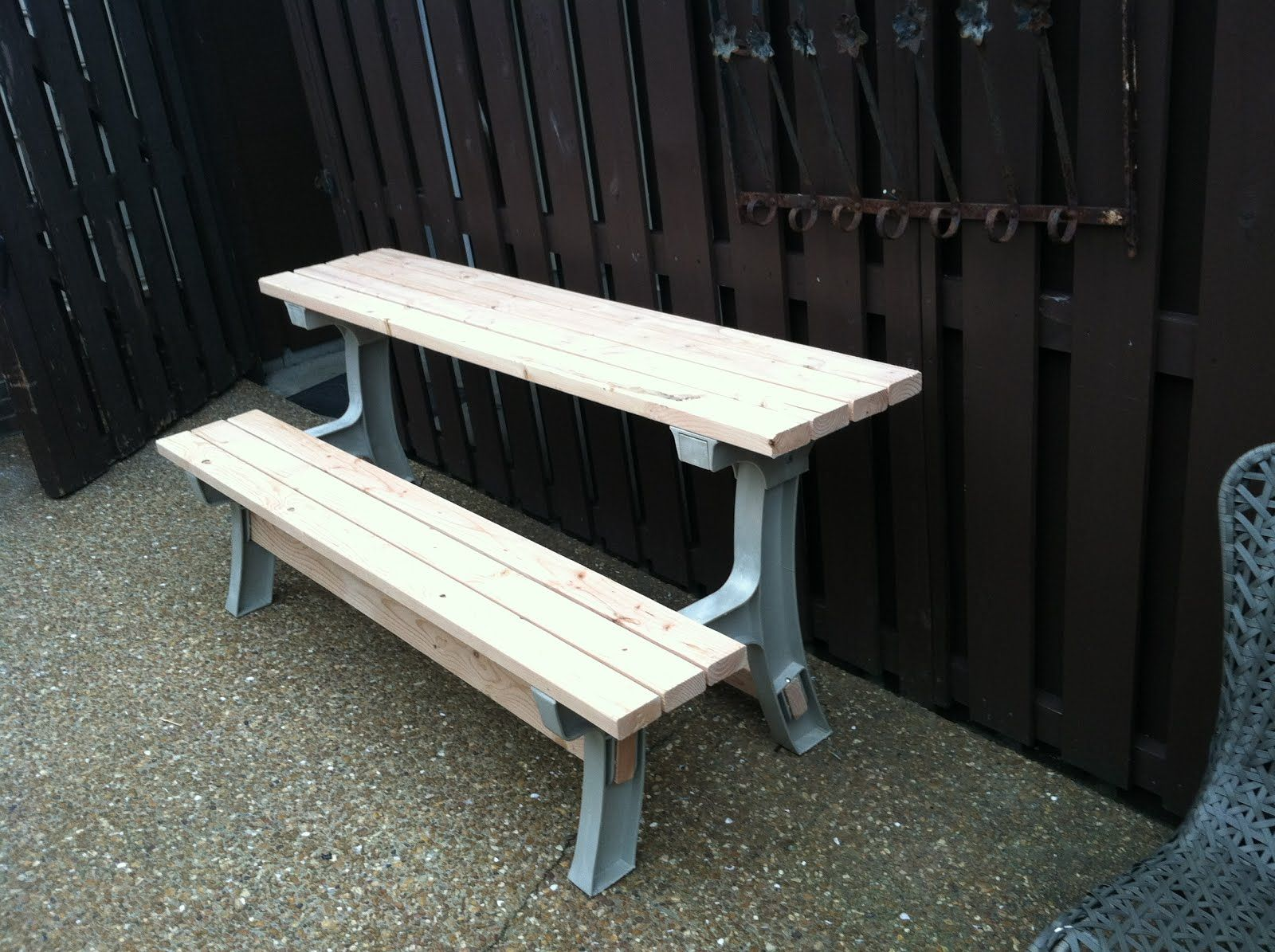 Bench W Tilt Back Converts To A Half Picnic Table