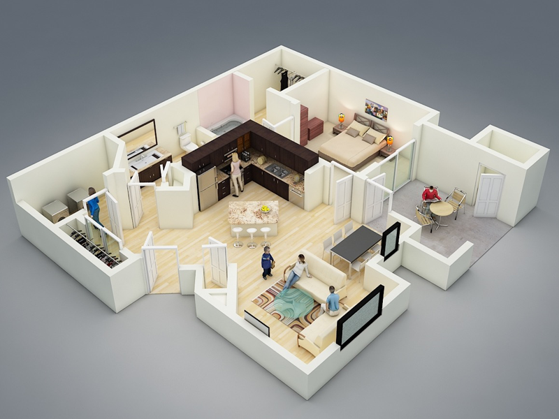Desain Rumah Minimalis Apartement 1 Kamar Tidur Denah Lantai Rumah Rumah Minimalis Desain Rumah