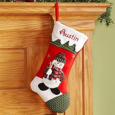 Personalized Snow Cap Christmas Stocking, Available in 11 Designs - Walmart.com