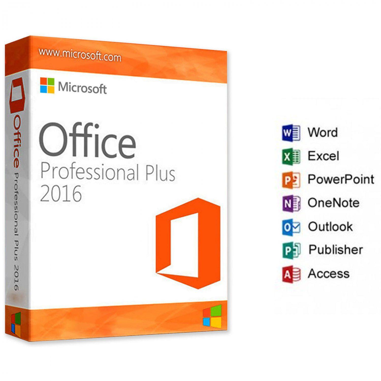 Genuine Microsoft Office 2016 Professional Plus Pro 32 64bit Full Retail Version Microsoft Office Microsoft Office Word Microsoft