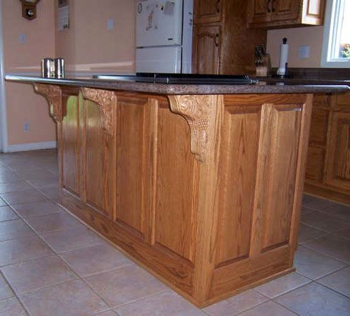 Beautiful Corbels To Accent The Island Kitchen Island Upgrade