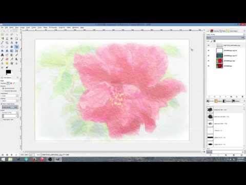 Watercolor Effect Using Gimp 2 8 Youtube Gimp Photoshop
