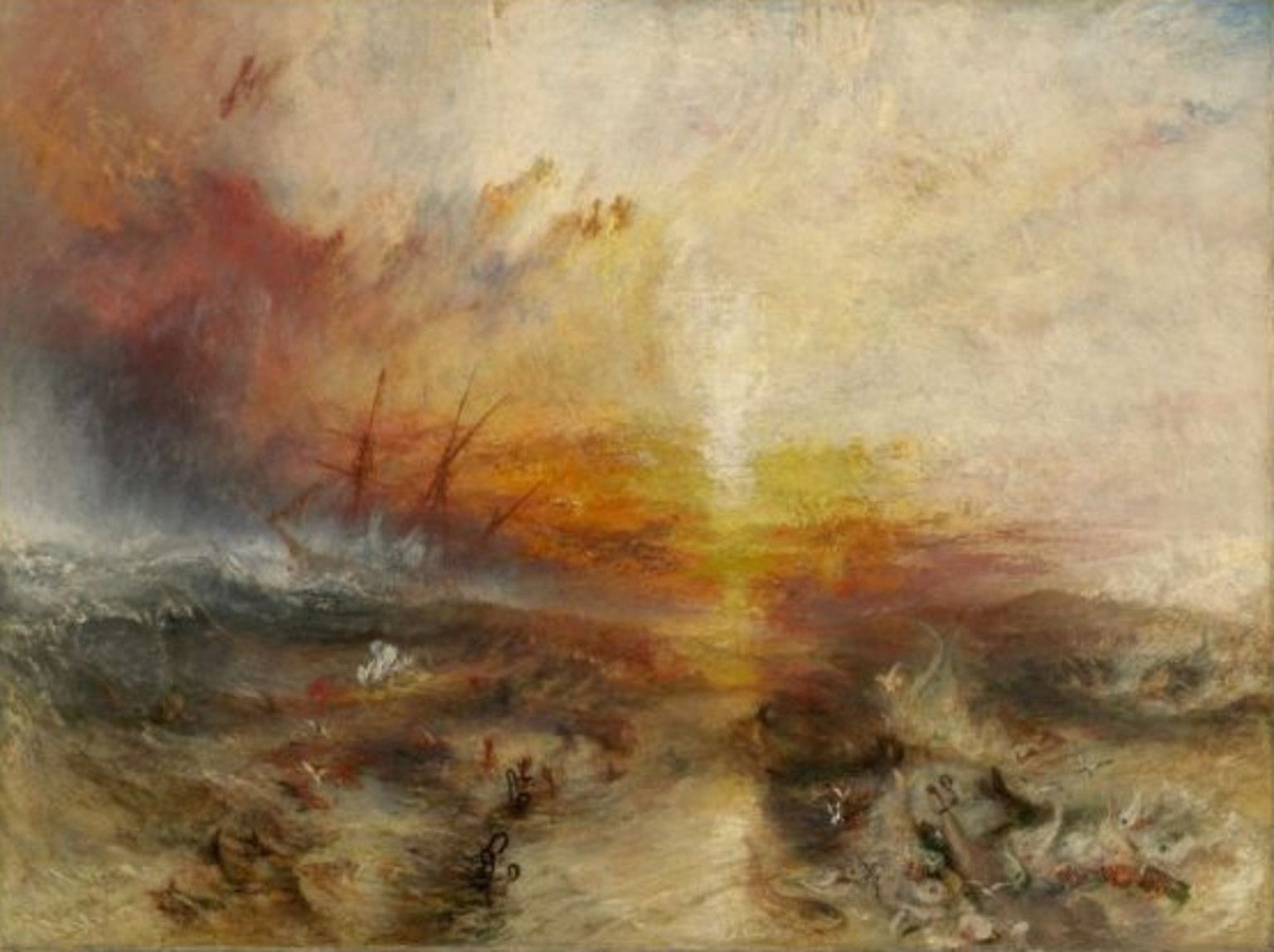 Wonderful Slave Ship (Slavers Throwing Overboard The Dead And Dying, Typhoon Coming  Joseph Mallord William Turner (English, X Cm X 48 In.) Oil On Canvas John  F. And ...