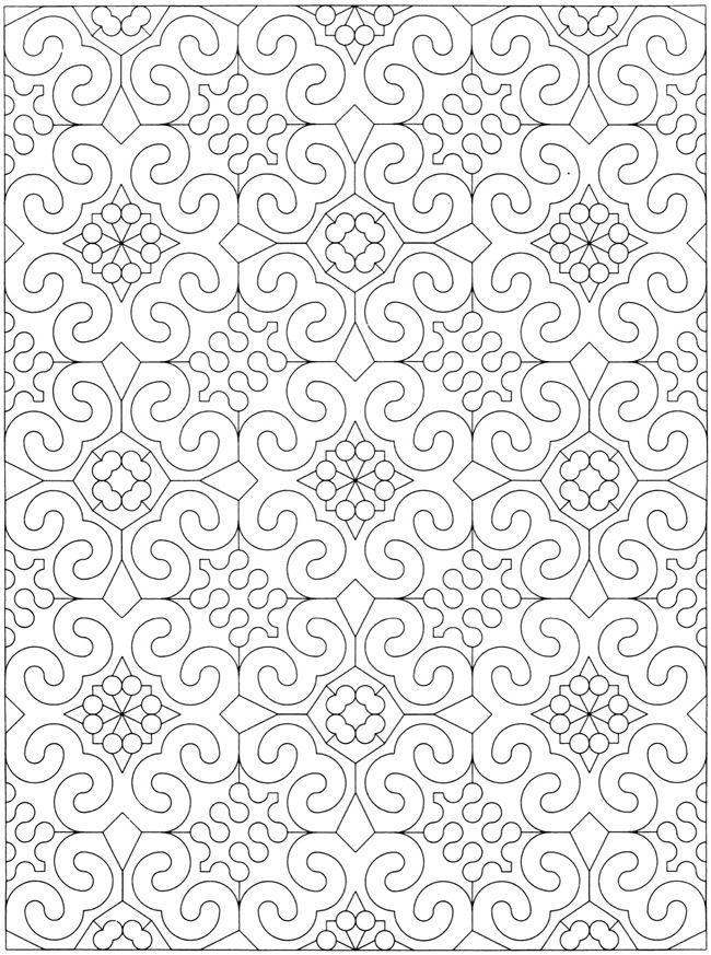 Kreative Oase geometrischen Allover Mustern Malbuch 2567 | 1 ...