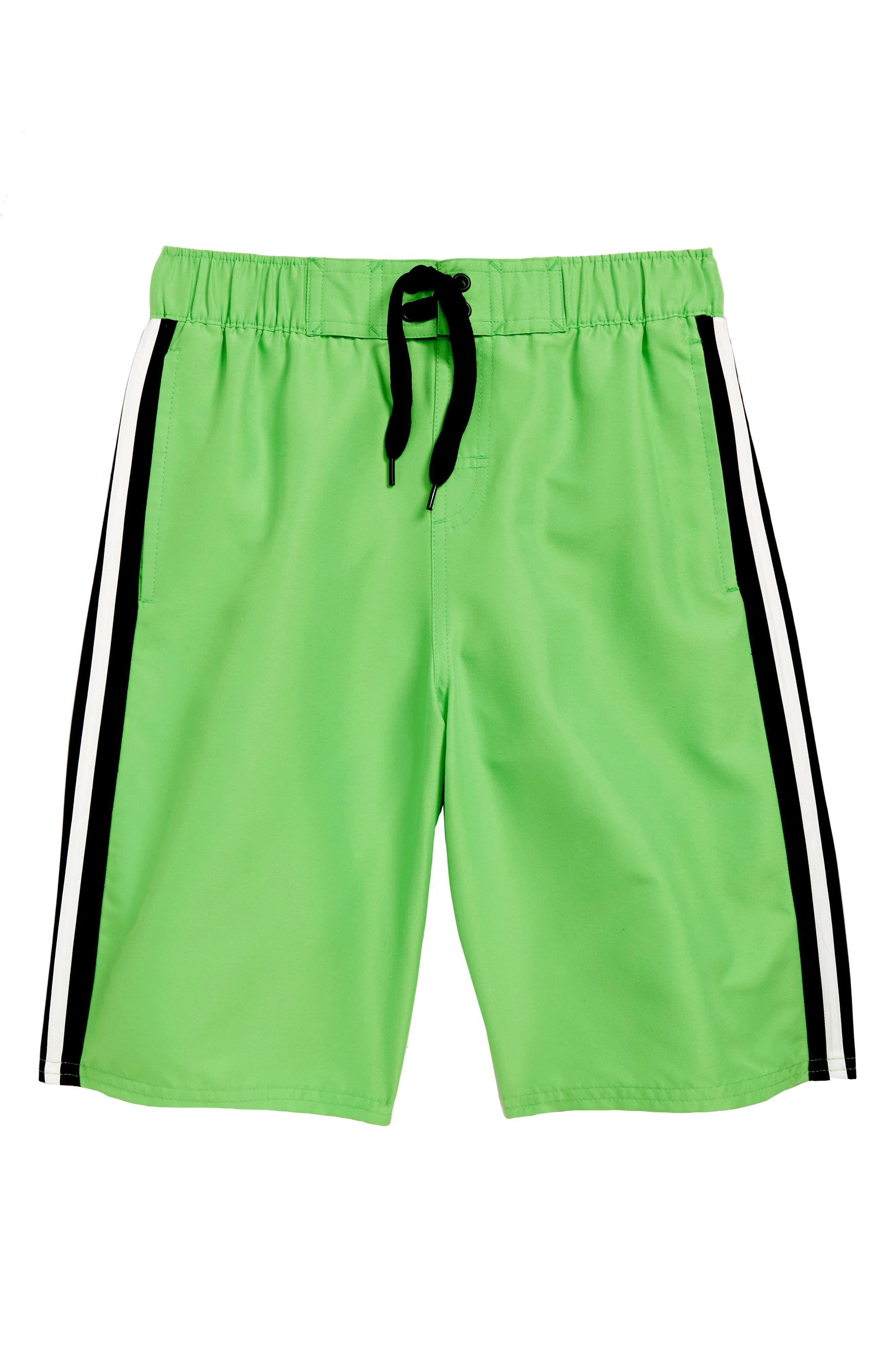 740b4bebfa Boy's Adidas Originals Iconic 3.0 Volley Swim Trunks, Size L (14-16) - Green