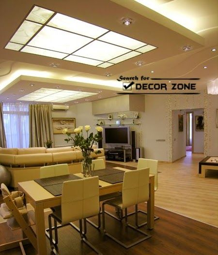 9 Stylish Tray Ceiling Ideas For Different Rooms: False Ceiling Designs Of Gypsum For Dining Room