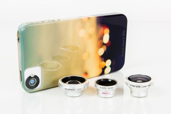 What fun and a great chance to play with phone photography! Pro quality Fisheye, Telephoto, Wide Angle and Macro cell phone lenses (and they work with any camera phone)! All three for $49