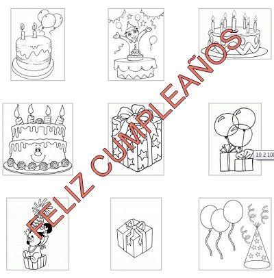 Dibujos para colorear. Fiesta de cumpleaños   Dibujos para colorear ...
