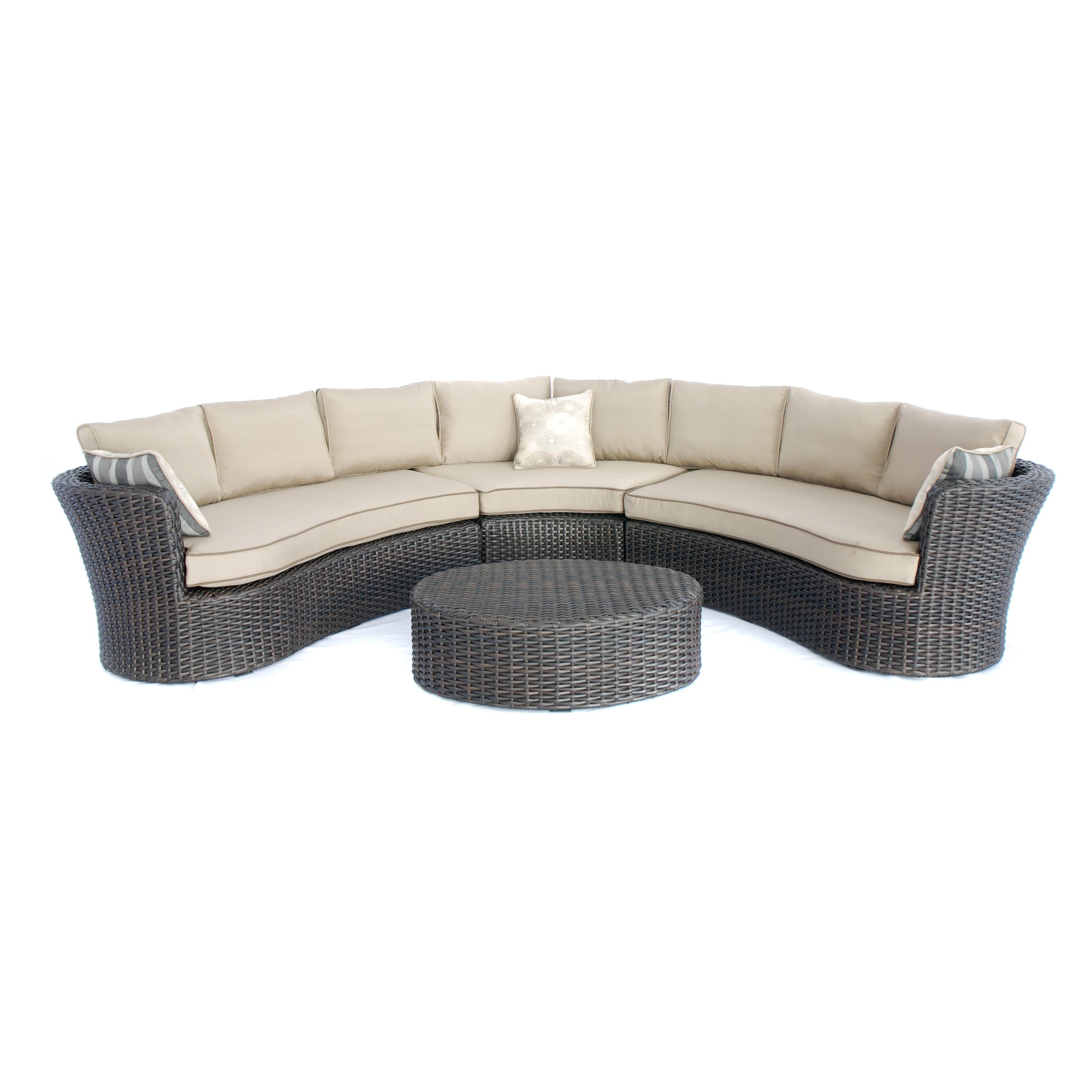 Have to have it. Creative Living Antigua Sectional Sofa with Ottoman ...