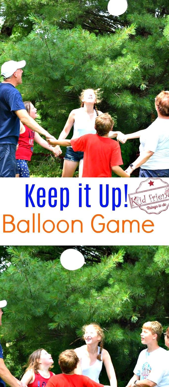 Just Keep it Up A Fun Balloon Game for Kids Teens and