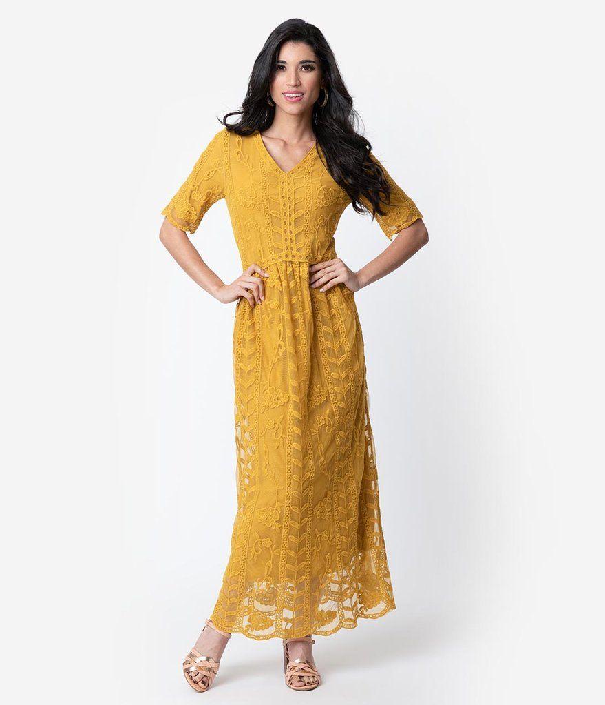 womens mustard dress short sleeve