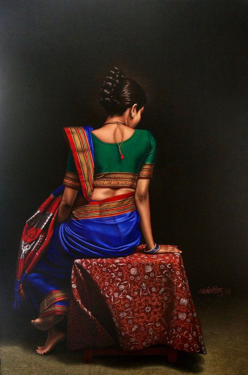 Shashikant Dhotre on in 2020 Indian women painting