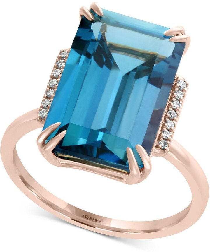 Effy London Blue Topaz (9-3/4 Ct. T.w.) & Diamond Accent