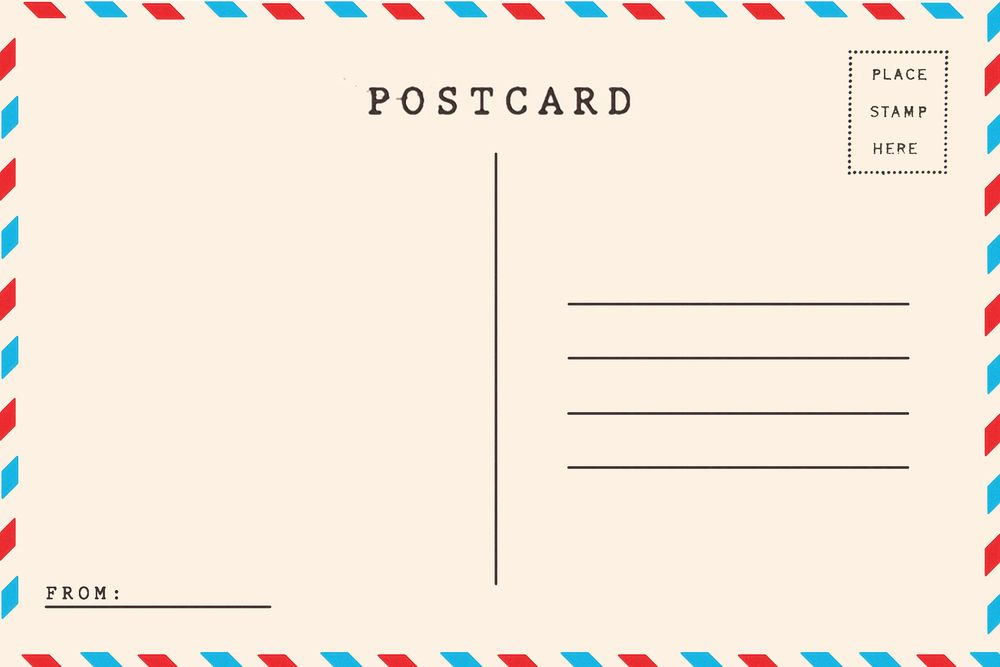 Summer Postcards For Social And Language Skills Postcard Template Postcard Postcard Template Free