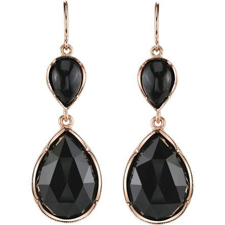 Irene Neuwirth Onyx Teardrop Earrings at Barneys.com