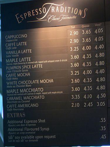 starbucks menu board | Starbucks Menu Prices 2011. Starbucks menu ...