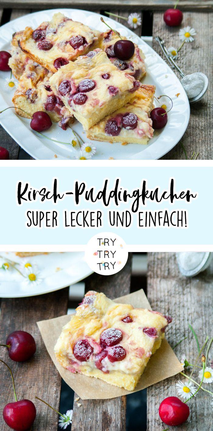 Puddingkuchen mit Sauerkirschen #bananadessertrecipes