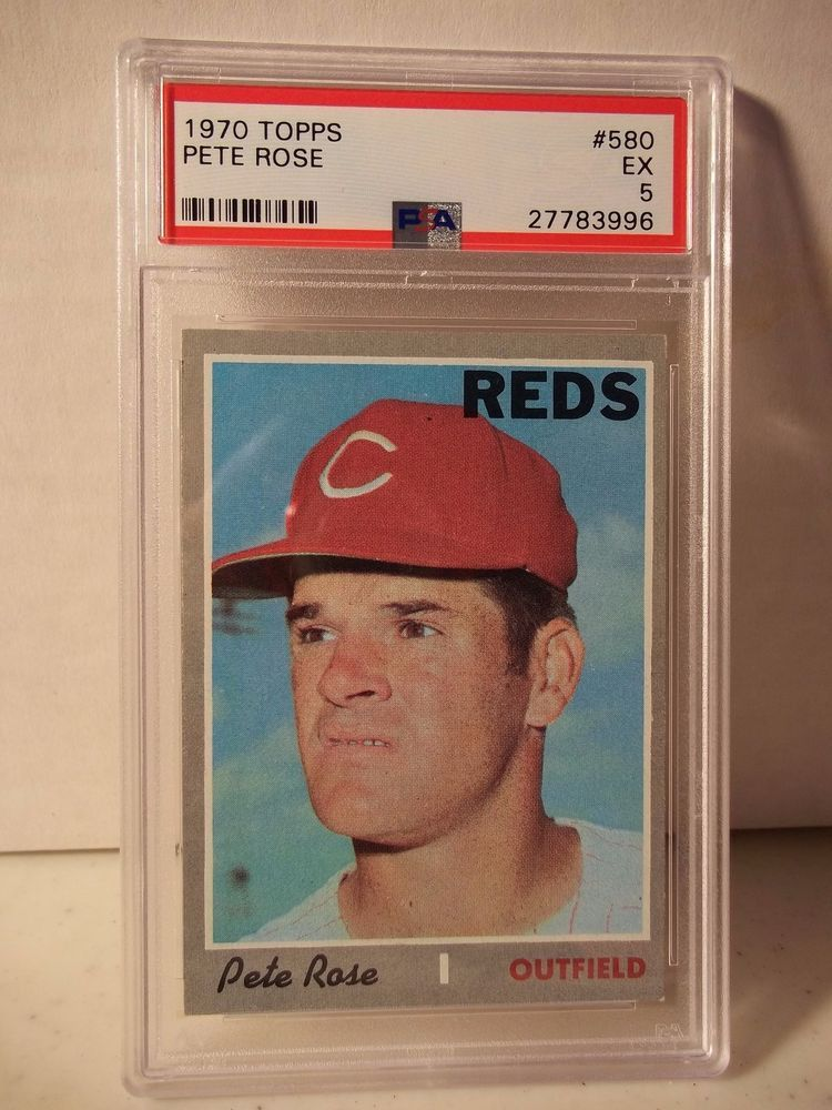 1970 Topps Pete Rose PSA EX 5 Baseball Card 580 MLB