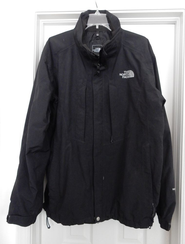 The North Face Hyvent Men S Jacket Coat Flannel Mesh Lined Black Size Xl Men S Coats And Jackets Coats Jackets Jackets