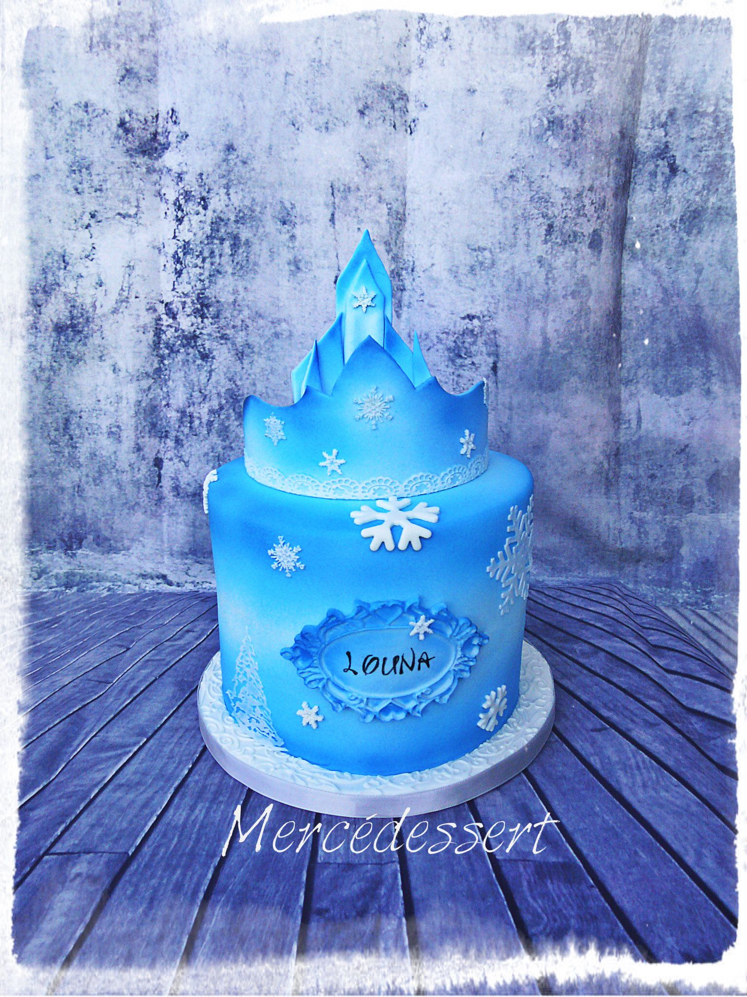 Gteau Reine des neiges Elsa Frozen birthday cake cakedesign