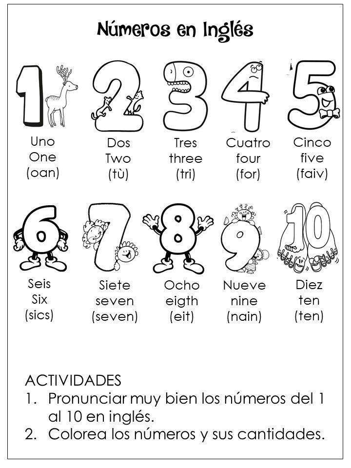 Numeros Del 1 Al 10 En Ingles Material Escolar En Ingles