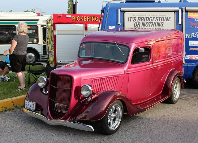 1935 Ford Hot Rod Panel Delivery Panel Truck Ford Pickup Trucks Old Ford Trucks