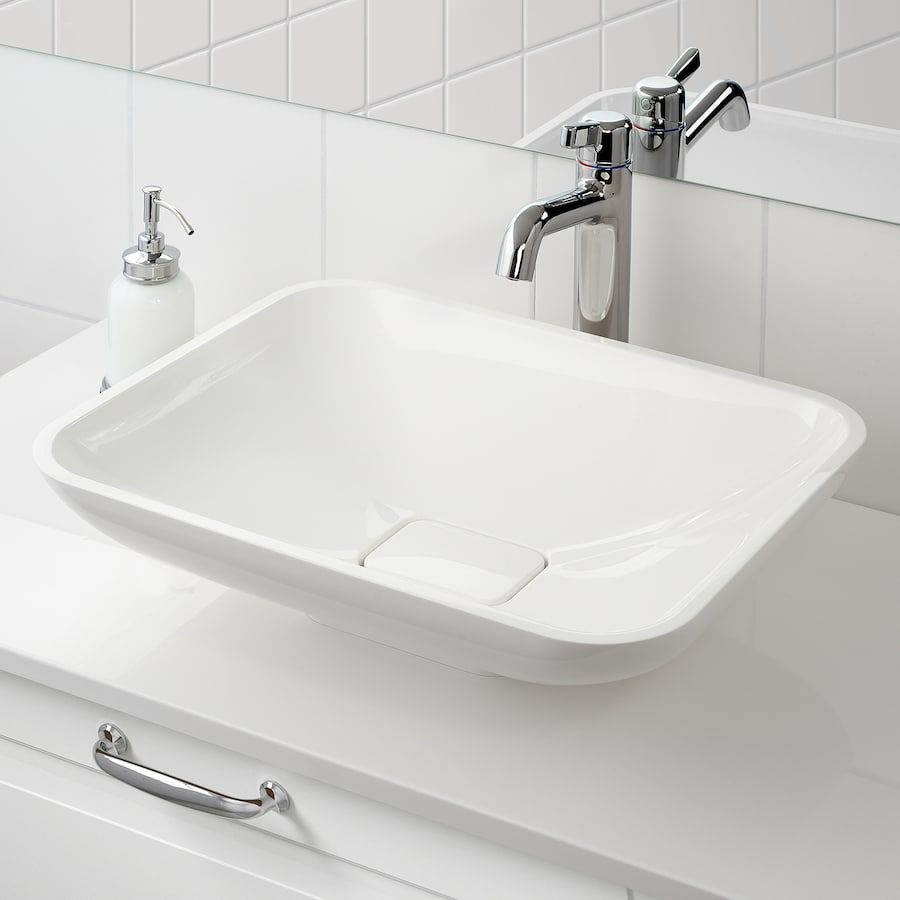 Borsten Aufsatzwaschbecken Weiss Hochglanz Ikea Deutschland In
