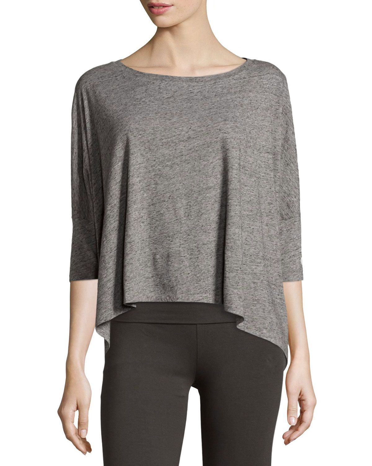Grey State Relaxation Dolman-Sleeve Tee, Onyx/Heather, Onyx Heath