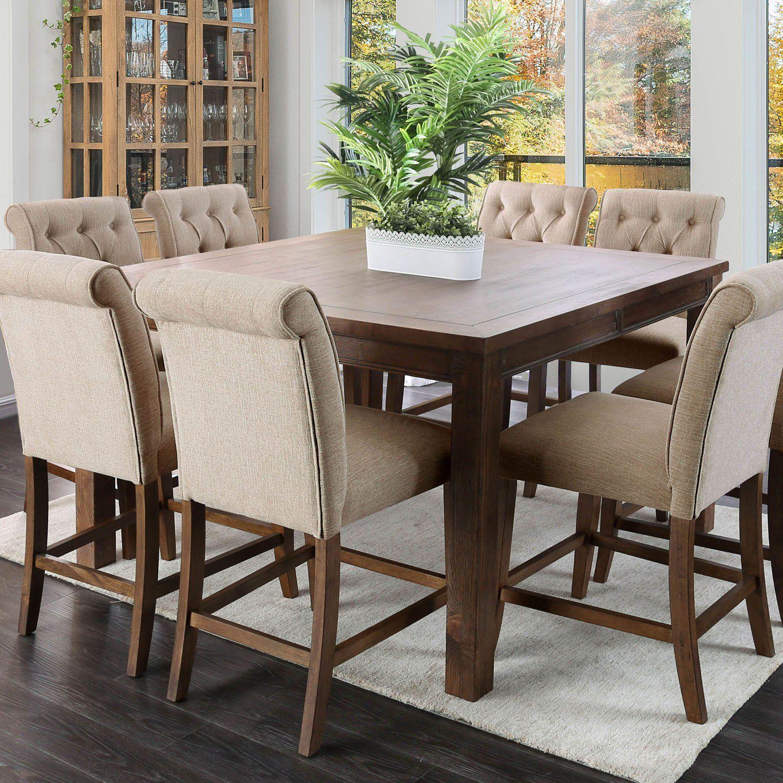Furniture Of America Bennington 54 In Counter Height Dining Table In 2021 Counter Height Dining Table Dining Table Counter Height Dining Sets