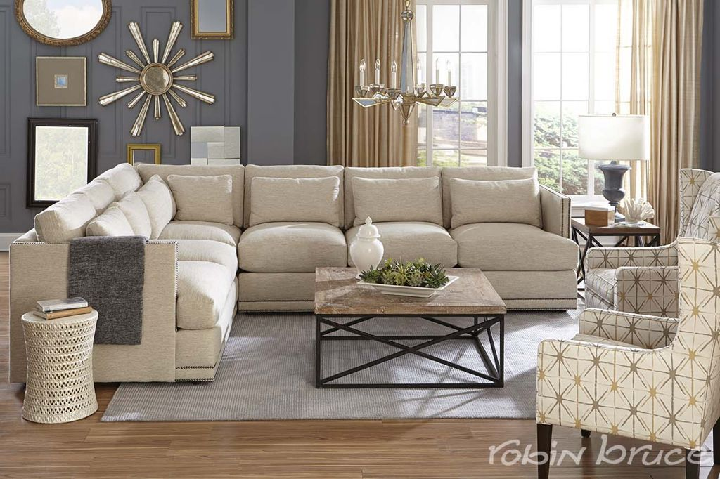 Oscar Sectional And Angelica Chair Robinbruce Furniture Cheap