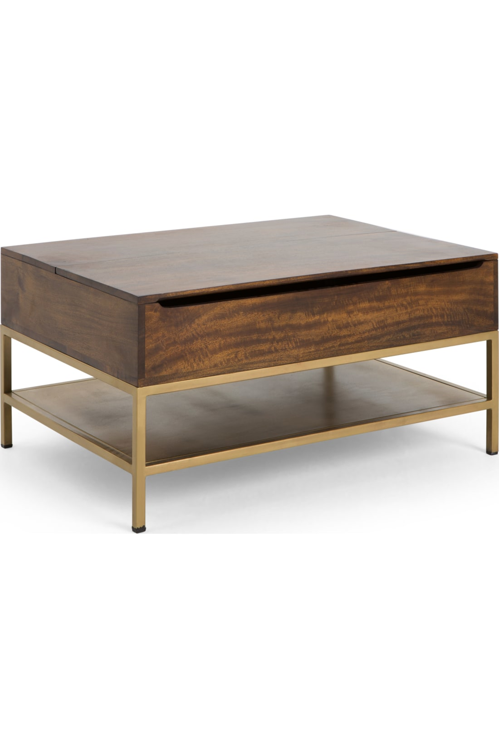 Made Com Tables Basses Laiton Bois Fonce Brass Coffee Table