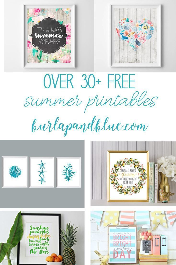 Photo of Free Summer Printable Art {Rustic Floral Wall Art}