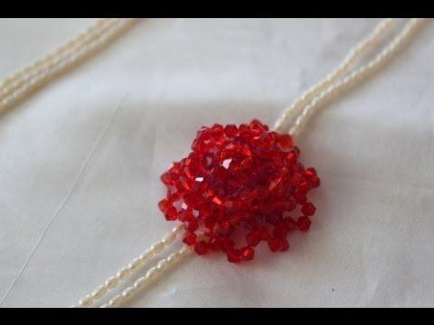 Sidonia's handmade jewelry - Blue Roses Necklace - Swarovski Necklace P1 - YouTube