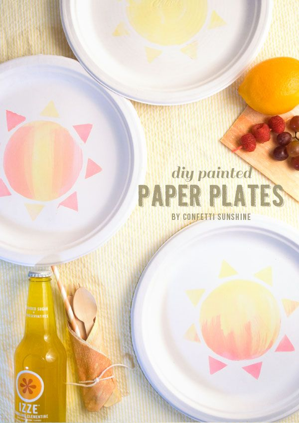 Confetti Sunshine DIY Painted Party Chinet Plates @Sara Eriksson - Confetti Sunshine & Confetti Sunshine: DIY Painted Party Chinet Plates @Sara Eriksson ...