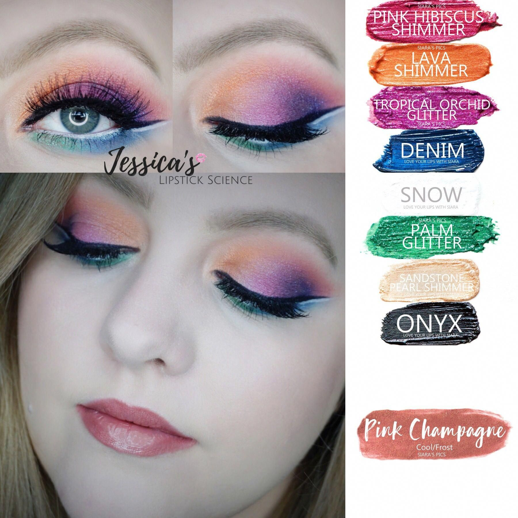 🌈colorful makeup 💕 tutorial on facebook