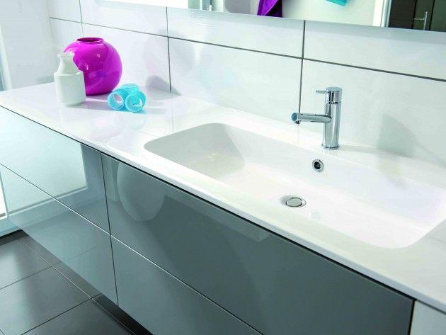 meuble de salle de bain avec lavabo encastré | paimpol sdb ... - Lavabo Salle De Bain Encastrable