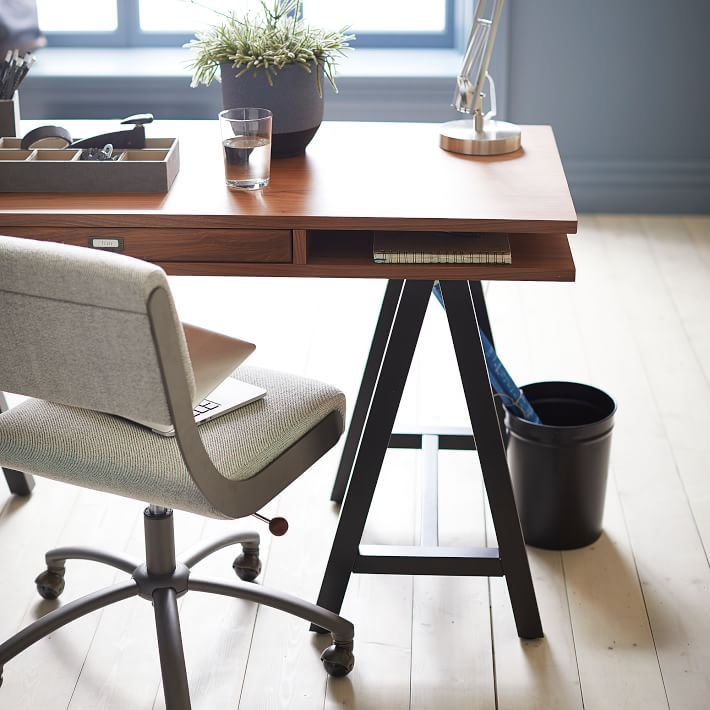 Comfortable Chairs For Studying With Study In Casual Comfortable Style Our Boomerang Desk Chair Is The Plushest Place To Boucle Twill Gravel 2018 True Blues