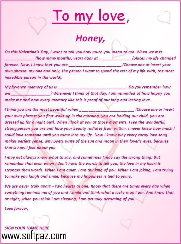 Amazing Getting Romantic Love Letters Free Sample Setup Was Never This Easy!  Download Romantic Love Letters  Love Letter Template For Him